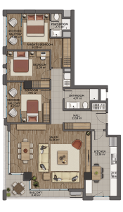 Istanbul-Kagithane-luxurious-projects-plans-3+1