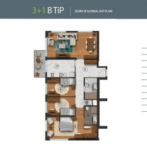 istanbul-residential-and-commercial-projects-plans 3+1